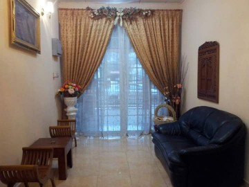 Living room genuine leather n jati sofas